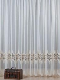 Plauener Spitzen-Gardine Symmetrie