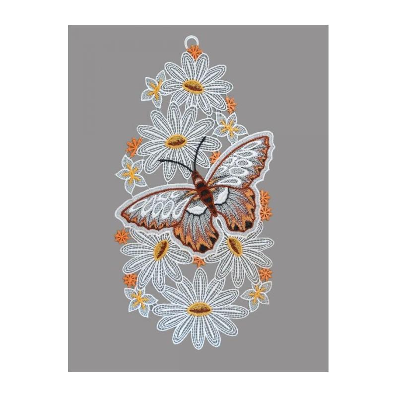 Schmetterling mit Blumen