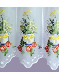 Scheibengardine Kräutertopf detailbild