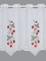 Scheibengardine Erdbeere