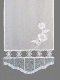 Flächengardine Francis mit Blume detail