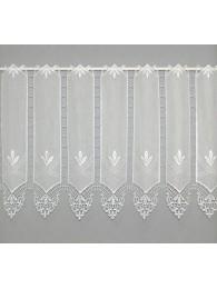 Transparente naturfarbene Spitzen-Scheibengardine in 30, 45 und 60 cm Höhe