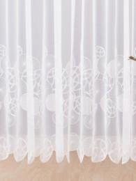Modern und eindrucksvoll mit gefüllten Kreisen bestickter  weißer Langstore.