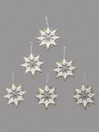 Baumbehang Sterne in weiß...