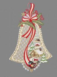 Glocken mit Winterlandschaft