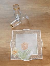 Frühlingsfrische Tischwäsche aus Plauener Spitze
