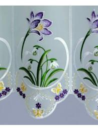 Plauener Stickerei-Scheibengardine Krokus detailansicht