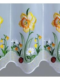 Scheibengardine Osterglocken detailansicht