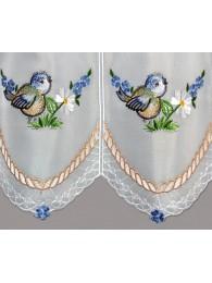 Stickerei-Kurzgardine Blaumeisen detailbild