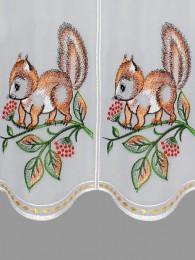Kurzgardine Eichhörnchen Detailbild