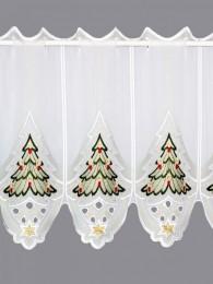 Scheibengardine Weihnachtsbaum