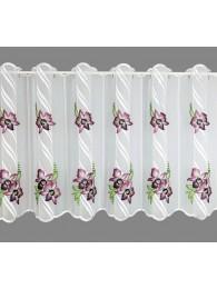 große Kurzgardine Orchideenblüten in lila