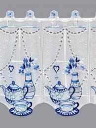Küchengardine Teatime in blau