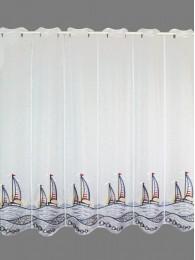 Kurzgardine Segelboote im Sonnenuntergang