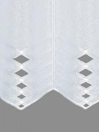 Kurzgardine Liss in weiß detailbild