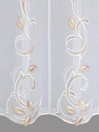 Stickerei-Scheibengardine Marcella detailansicht