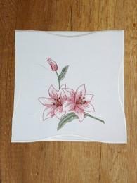 Stickerei-Tischwäsche Lilie