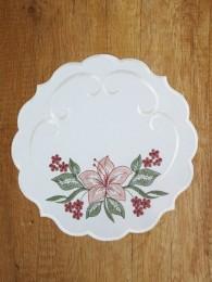 Tischwäsche Lilienkranz rund