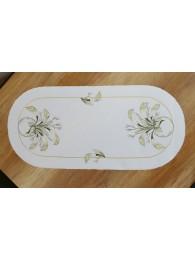 Stickerei-Tischwäsche Calla oval