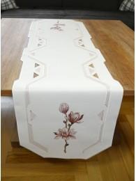 Stickereidecken Moderne Magnolie rosa