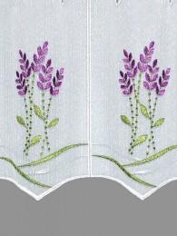 Scheibengardine Lavendel detailansicht