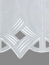 Scheibengardine Gracy in weiß detailansicht