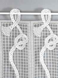 Spitzengardine Kiki in weiß detail