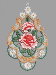 Fensterbild Rosen