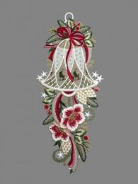 Dekorativ verzierte große Weihnachtsglocke