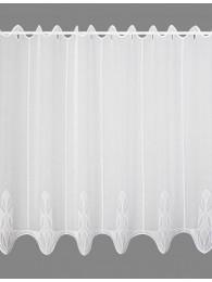 Plauener Stickerei Kurzgardine Ricarda in weiß