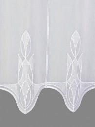 Kurzgardine Ricarda in weiß detailbild