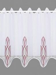 Kurzgardine Ricarda in grau-rotbraun