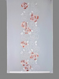 Schiebepaneele Rosalia in weiß-lachs