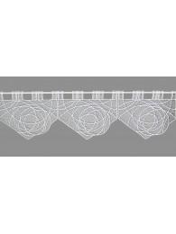Weiße Spitzengardine in modernem Design