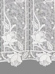 Spitzengardine Magnolie in weiß detail