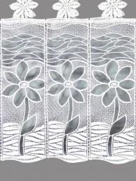 Spitzengardine Margery in weiß Detail