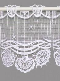 Spitzengardine Muscheln Detailbild