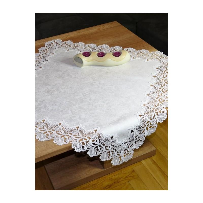 Elegante Tischdeckenserie Stefanie in natur