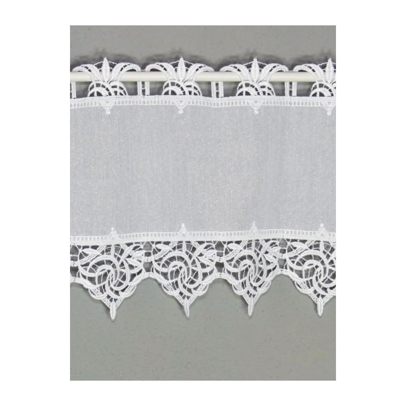 Elegante Landhausgardine Leona in weiß