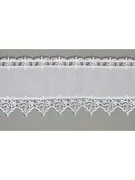 Elegante Landhausgardine Leona in weiß schmal