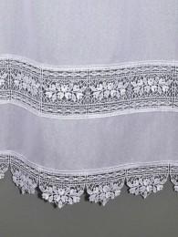 Zarte Spitzengardine Lisann in weiß Detailbild