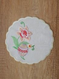Stickereidecke Osterei in lila