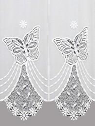 Plauener Spitzengardine Butterfly Detailbild