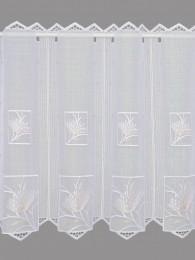 Modern mit Blütenornamenten bestickte Kurzgardine in 2 Höhen