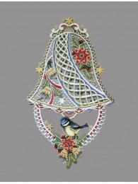 Edle Spitzen-Glocke mit kleinem Vogel