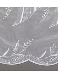 Stickereigardine Ireen in weiß detail