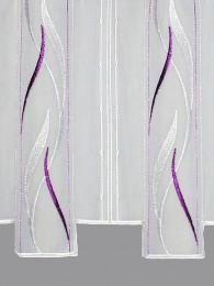 Stickerei-Scheibengardine Alice in lila detailbild