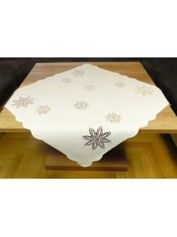 Klassische Weißstickerei-Tischwäsche mit Spitzen-Applikatinen