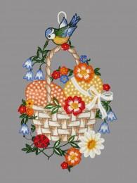 Eierkorb mit Blaumeise