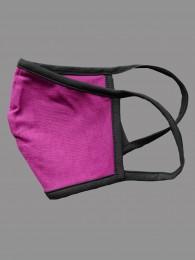 Mund-und Nasen-Maske Behelfs-Mundschutz lila seite